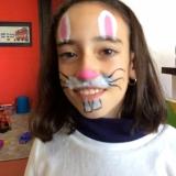 pintando caras en Pascua