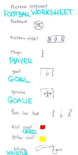football-worksheet