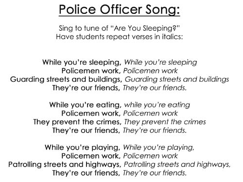 Police officer song