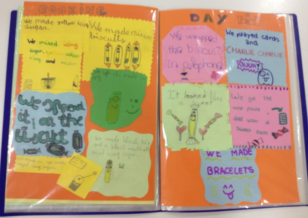 scrapbook summary of cooking day workshop