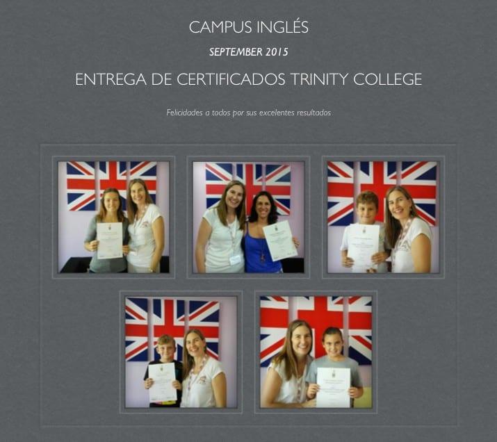 Entrega de Trinity certificados 2015