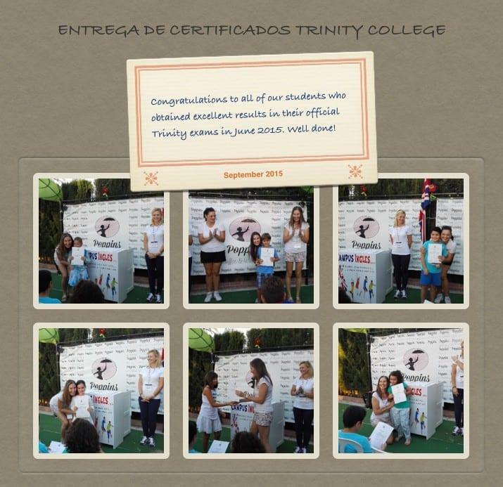 Entrega de certificados Trinity 2015