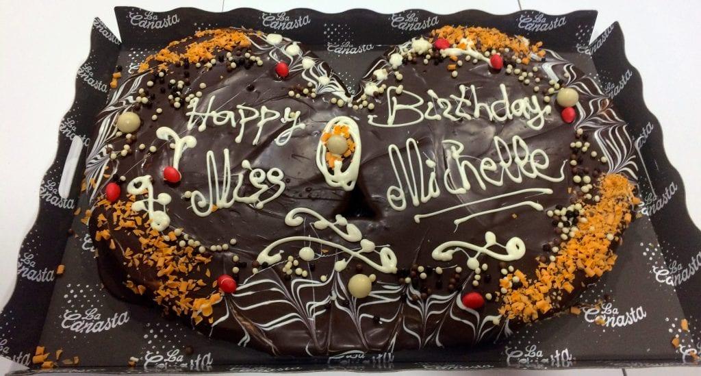 en el cumpleaños de Ms Michelle