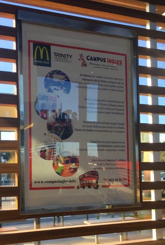 en McDonalds Bahia Azul Malaga