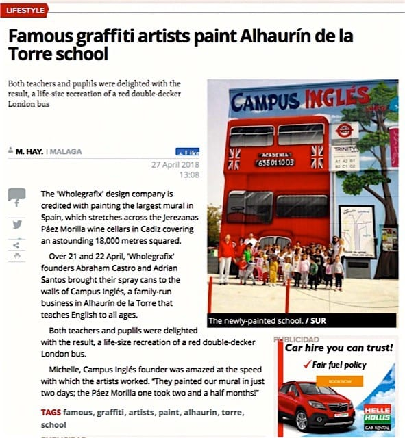 in the newspaper Sur in English