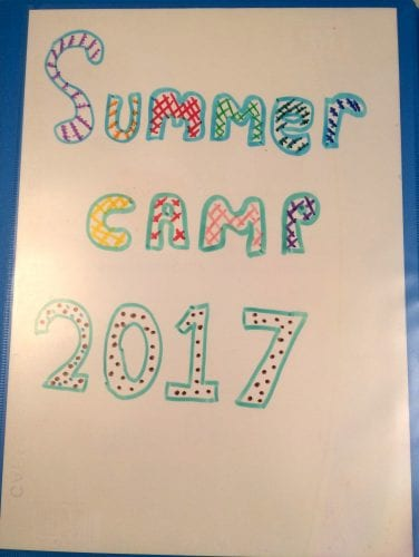 diary of summer camp 2017