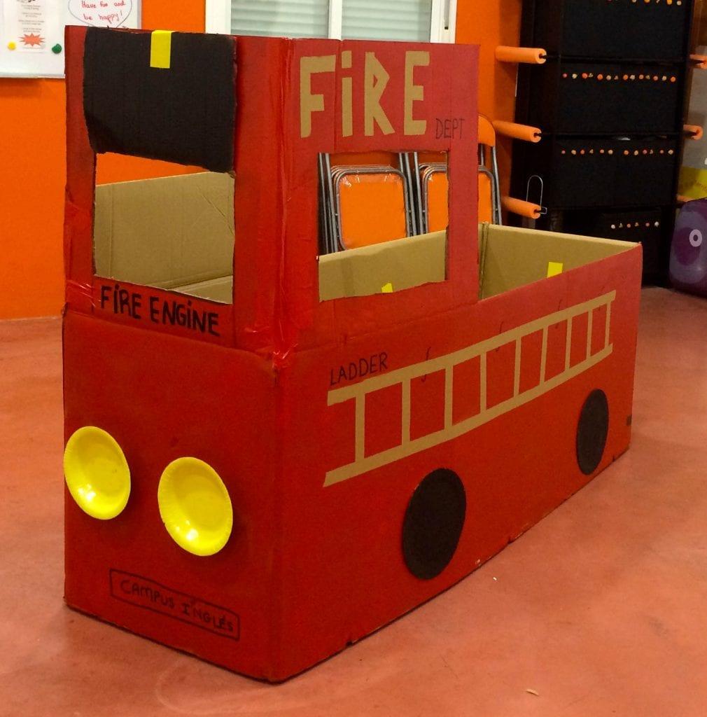 fire engine for fire week summer camp 2018