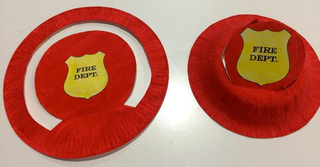sombreros de bombero manualidad