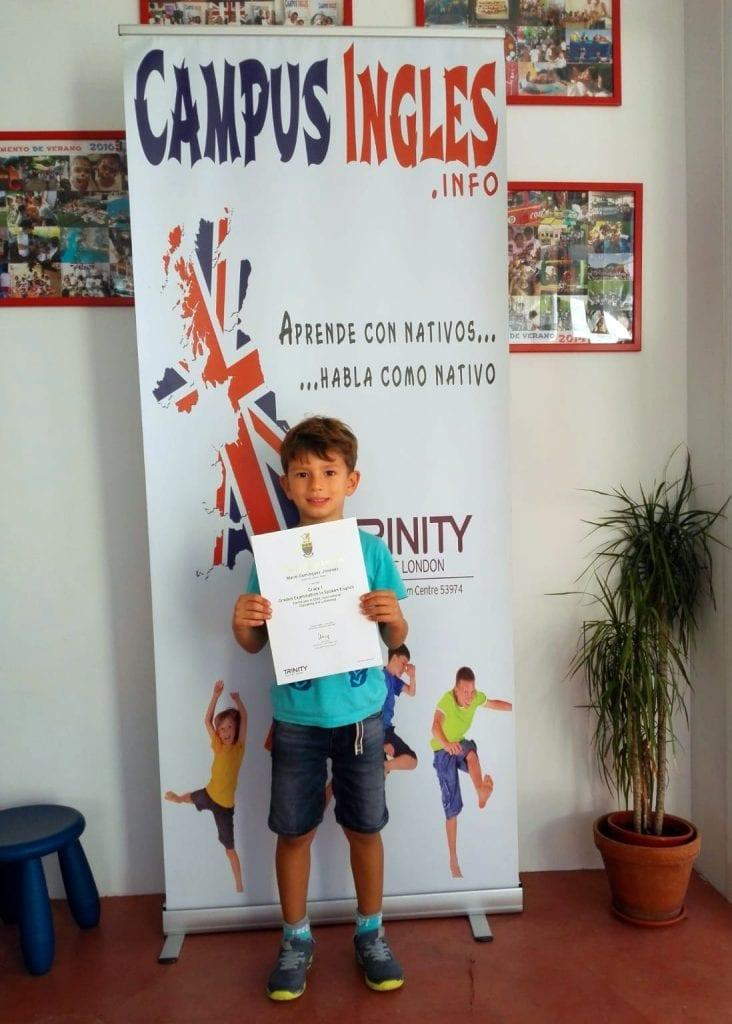 Trinity certificado con 5 años