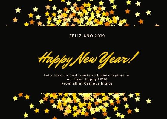 Feliz año 2019 de todos en Campus Ingles