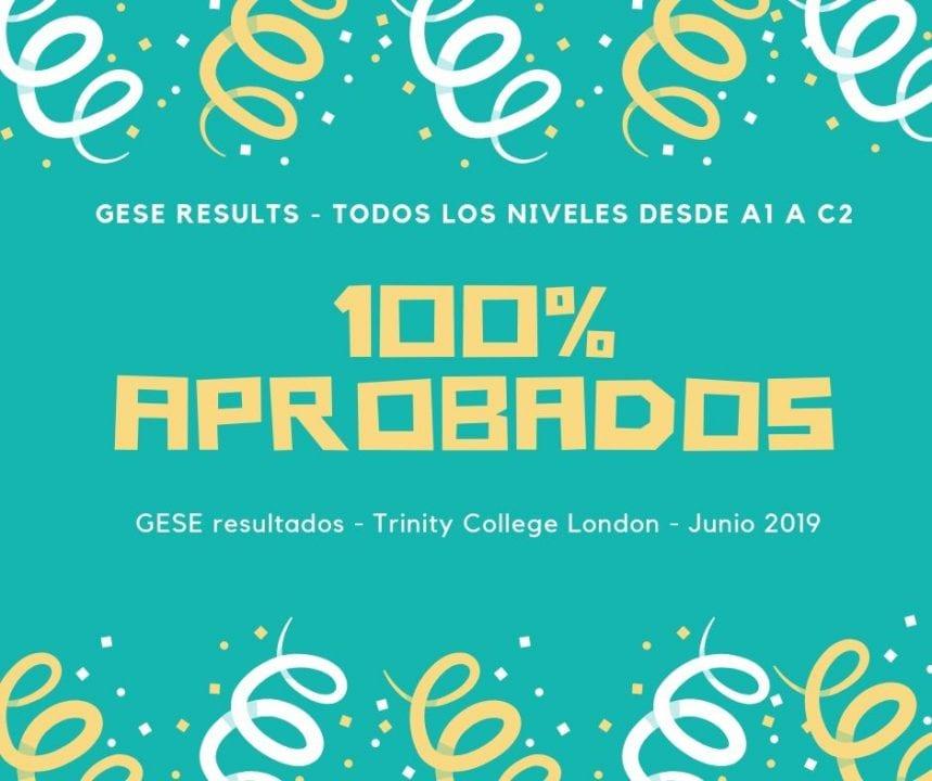 Trinity College London GESE resultados