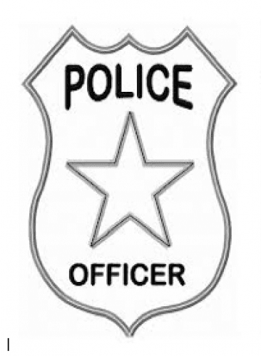 police badge to colour